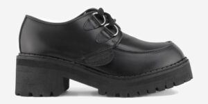 UNDERGROUND LEX CHUNKY D-RING SHOE – BLACK LEATHER – CUSTOM MADE SHOES FOR MEN AND WOMEN