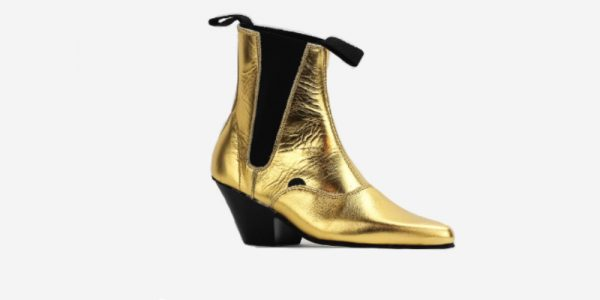 Underground England Fred Winklepicker Gold metallic leather boot for men and women