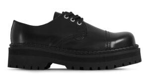 Underground England Original Tracker steel toe cap black leather shoe for men and women