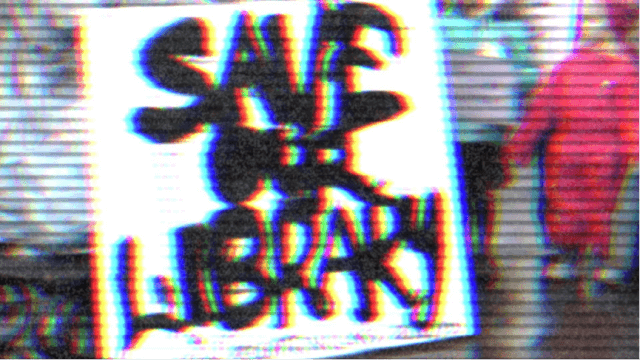 Save our library sign Safe House: A Decline of Ideas Underground England Blogpost