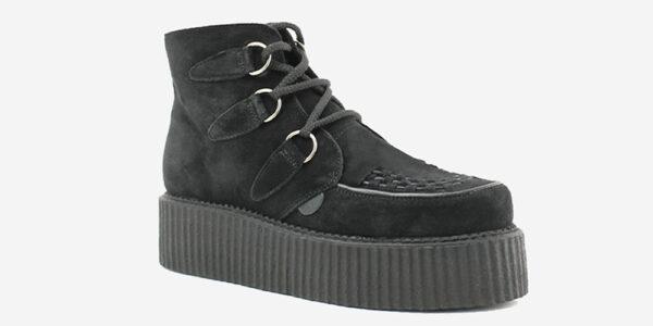 Underground Original Wulfrun Creeper black suede d-ring boots for men and women