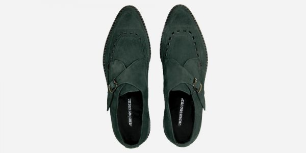 Underground Original Apollo Creeper dark green suede buckle shoe for men and