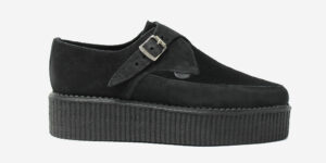Underground Original Apollo Creeper black suede and pony hair buckle shoe for men and women