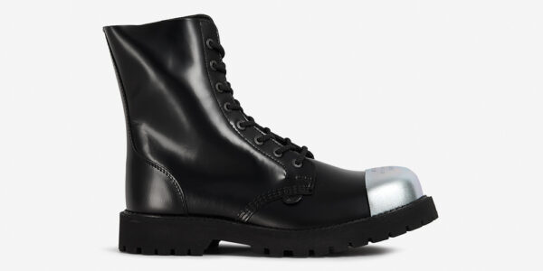Underground Original Steel Cap Stormer external cap black leather combat boot for men and women