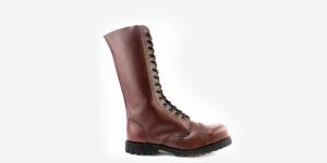 Underground Original Steel Cap Ranger Burgundy leather combat boot for men and women