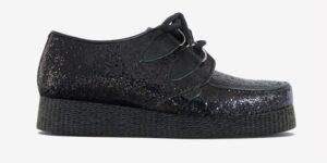 Underground Original Wulfrun Creeper glitter black shoe for men and women