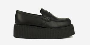 Original Underground creeper loafer black grain leather shoe for Men and Women