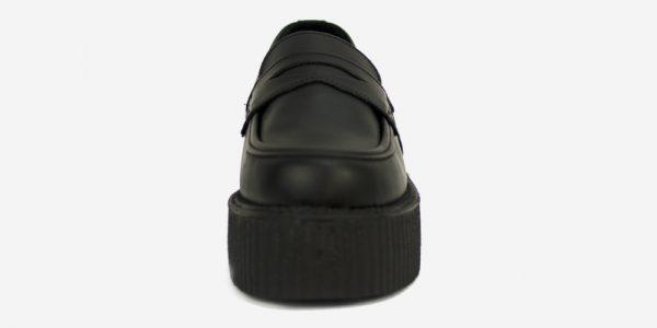 CREEPER LOAFER – BLACK GRAIN Original Underground creeper loafer black grain leather shoe for Men and Women– DOUBLE SOLE – CUSTOM MADE