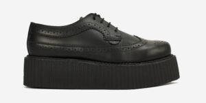 Underground England Macbeth brogue black leather shoe for men and women