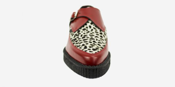 Underground Original Apollo Creeper red leather and leopard print pony buckle shoe for men and women