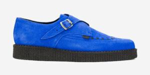 Underground Original Apollo Creeper royal blue suede buckle shoe for men and