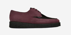 Underground Original Barfly Creeper burgundy suede with burgundy pony hair shoe for men and women