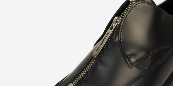 Underground England Original Apollo creeper black leather shoe with zip for men and women