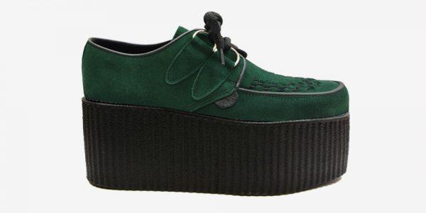 Underground Original Wulfrun Creeper dark green suede leather shoe for men and women