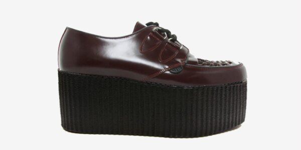 Underground Original Wulfrun Creeper oxblood leather shoe for men and women