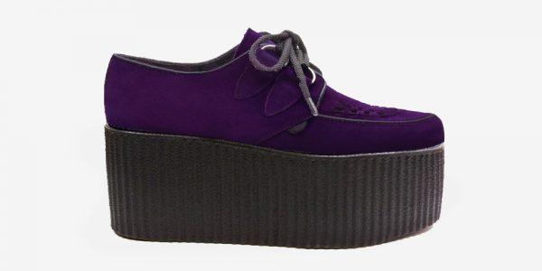 Underground Original Wulfrun Creeper purple suede leather shoe for men and women
