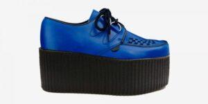 Underground Original Wulfrun Creeper royal blue leather shoe for men and women