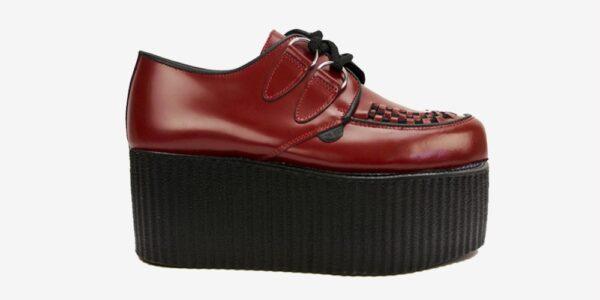 Underground Original Wulfrun Creeper red leather shoe for men and women