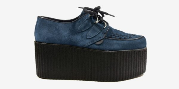 Underground Original Wulfrun Creeper teal suede leather shoe for men and women