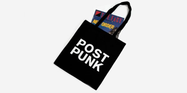 UNDERGROUND ENGLAND BLACK POST PUNK TOTE BAG FOR MEN AND WOMEN