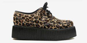 Underground Original Wulfrun Creeper natural large leopard pony hair shoe for men and women