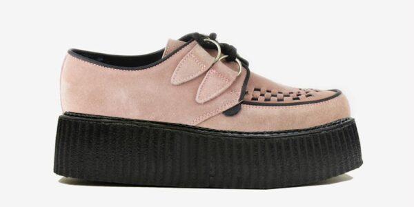 Underground Original Wulfrun Creeper dusty pink suede shoe for men and women