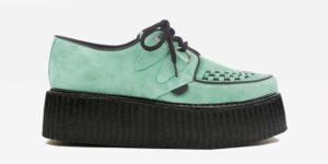 Underground Original Wulfrun Creeper spearmint suede shoe for men and women