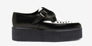 Underground Original Apollo Creeper black and white leather buckle shoe for men and women