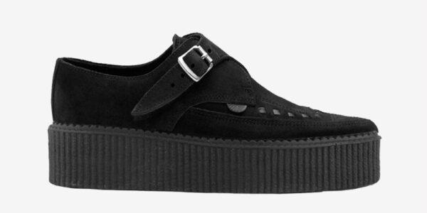 Underground Original Apollo Creeper black suede leather buckle shoe for men and women