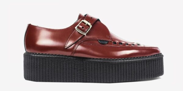 Underground Original Apollo Creeper cherry leather buckle shoe for men and women
