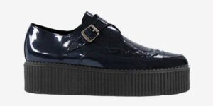 Underground Original Apollo Creeper navy patent leather buckle shoe for men and women