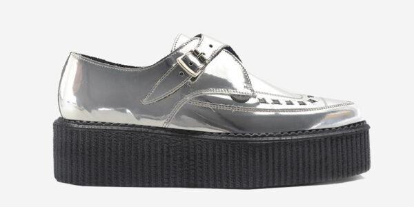 Underground Original Apollo Creeper mirror leather silver buckle shoe for men and women