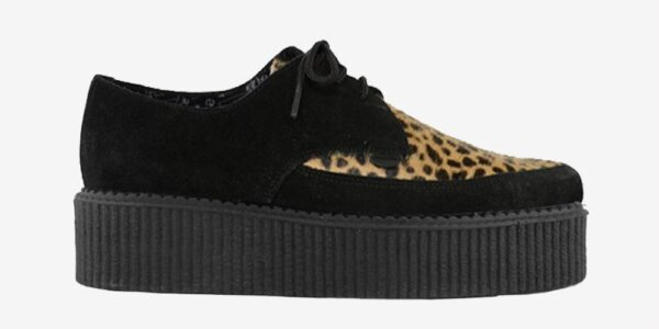 Underground Original barfly Creeper black suede and cappuccino leopard for men and women