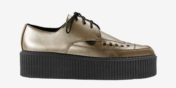 Underground Original barfly Creeper metallic gold leather for men and women