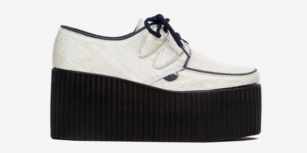 Underground Original Wulfrun Creeper white hair shoe for men and women