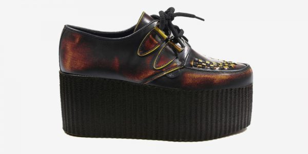 Underground Original Wulfrun Creeper sunburst rub-off leather shoe for men and women
