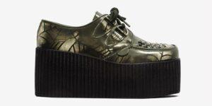 Underground Original Wulfrun Creeper black and white spider web rub-off leather shoe for men and women
