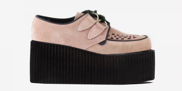 Underground Original Wulfrun Creeper dusty pink suede leather shoe for men and women
