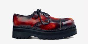 Underground England Original Tracker steel toe cap sunburst rub-off leather shoe for men and women
