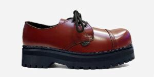 Underground England Original Tracker steel toe cap cherry leather shoe for men and women