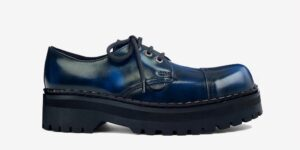 Underground England Original Tracker steel toe cap navy rub-off leather shoe for men and women