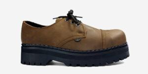 Underground England Original Tracker steel toe cap aztec tan leather shoe for men and women