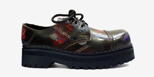 Underground England Original Tracker steel toe cap tartan rub-off leather shoe for men and women