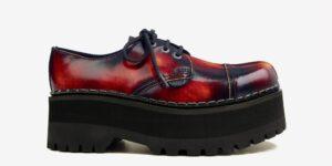Underground Original Tracker sunburst leather leather steel toe cap shoe with three eyelets for men and women