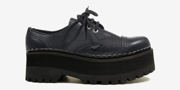 Underground Original Tracker tumbled leather steel toe cap shoe with three eyelets for men and women