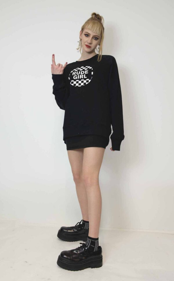 Undeground England Rude Girl Sweatshirt in black and white for men and women