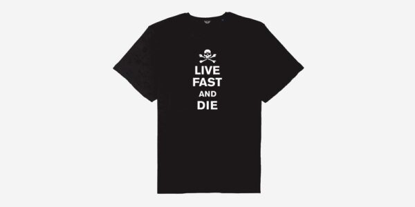 Underground England Live fast and die black and white t-shirt for men and women