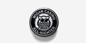 Underground England Wigan Casino the all-nighter button pin badge