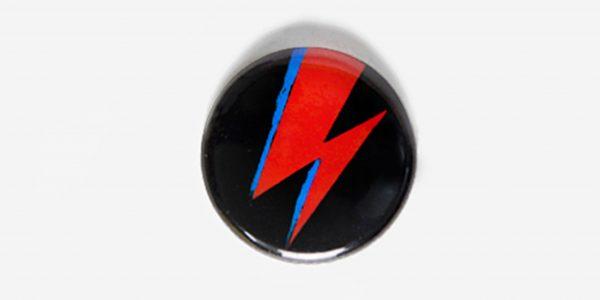 Underground England David Bowie Space Boy Lightening Ziggy Stardust Pin badge