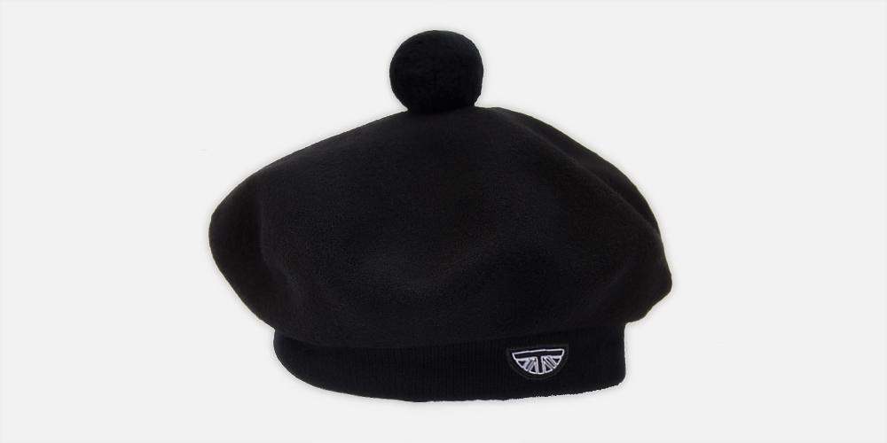 Scottish wool black beret UNDERGROUND